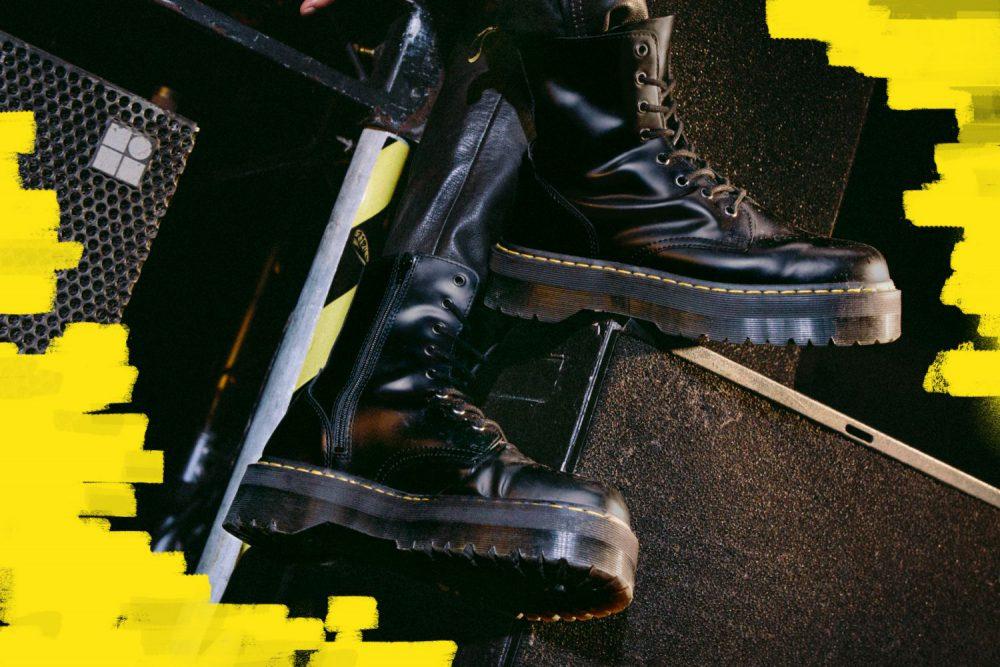 あえてスニーカーではなくブーツで<br>トレンドの厚底を楽しみたい<br>– Dr.Martens-