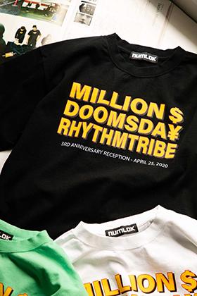1冊の本をキッカケに出会い<br>平塚とLAの架け橋をTシャツで<br>– rhythm tribe x MILLION DOLLER DOOMSDAY –