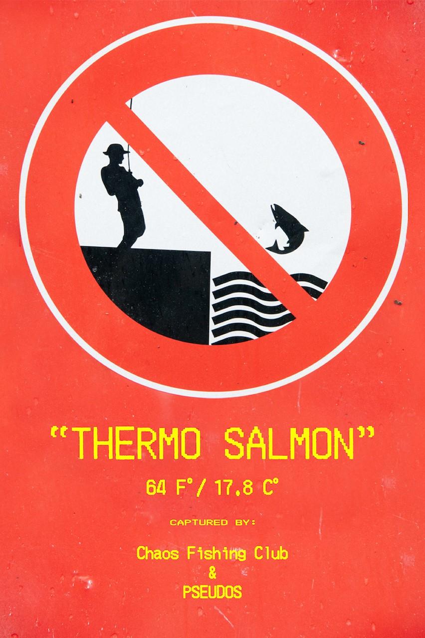 ハードコアな鮭釣りが待っている<br>釣り人にとって命なSEASONに<br>PSEUDOSとCFCのコラボが着たい